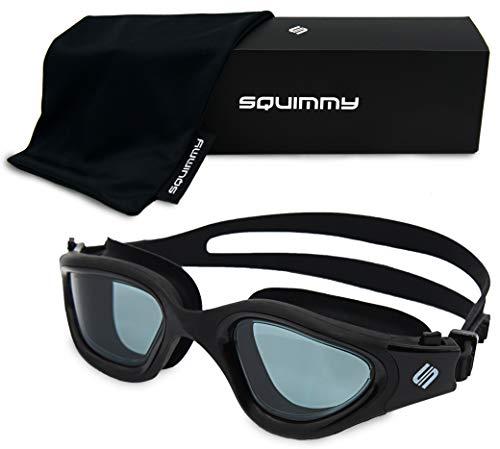 SQUIMMY Schwimmbrille (Schwarz, Dunkel Getönt)
