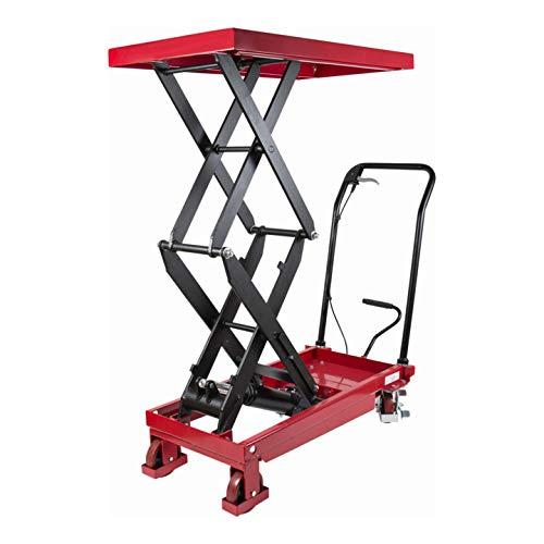 STIER Doppelscheren-Hubtischwagen, Traglast 350kg, Plattform: 910 mm * 500 mm, max Plattformhöhe: 1300mm,
