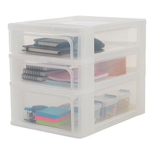 Iris Tischschubladenbox mit 4 Schubladen mit 4 Schübeelement Ohne Rollen