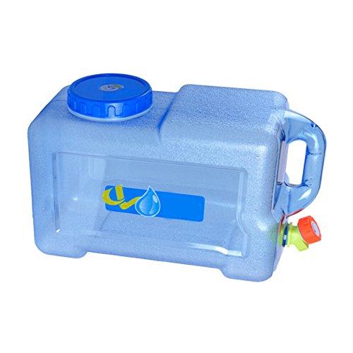 12L Wasserkanister mit festmontiertem Ablasshahn/Wasser Behälter PE mit Griff,Wassertank für Fahrzeug Camping Picknick Outdoor BBQ und Lange Reise