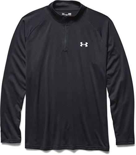 Under Armour Herren Fitness Sweatshirt UA Tech 1/4 Zip, Schwarz Black, XL, 1242220-003