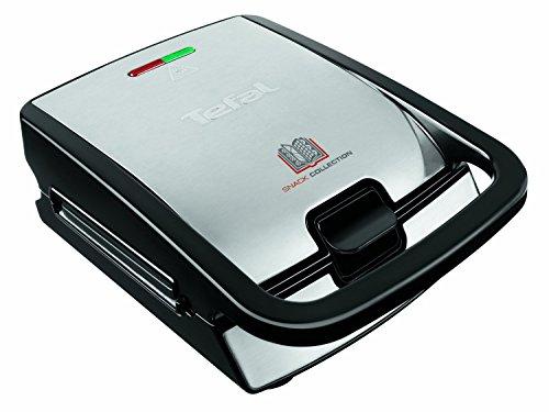 Tefal SW852D Snack Collection (700 Watt, Multifunktionsgerät für Waffeln und Sandwiches) schwarz/edelstahl