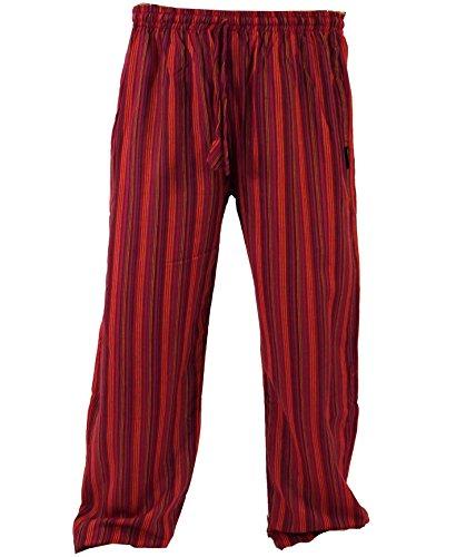 Guru-Shop Yogahose, Goa Hose, Herren, Rot, Baumwolle, Size:XL (52), Männerhosen Alternative Bekleidung