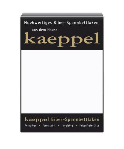 Kaeppel L-016745-01L1-UAKB Biber Spannbettlaken 100 x 200 cm, Farbe: weiß