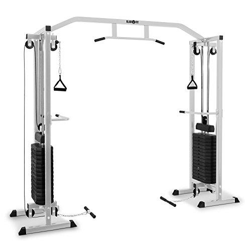 Klarfit Cablefit • Klarfit Cablefit Kabelzugbrücke Kabelzugstation (zweiseitiger Kabelzug, zwei Türme mit je 170 lb [77 kg] Maximalgewicht) silber