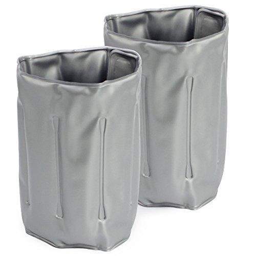COM-FOUR 2x Flaschenkühler, Kühlmanschette zum Kühlen von Flaschen, mit Klettverschluss (02 Stück - 32.8 x 15 cm)