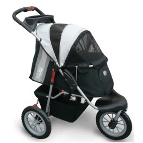 InnoPet Hundebuggy Comfort EFA Hundewagen Hunde buggy Buggie Hundetransportwagen black/silver bis 30kg