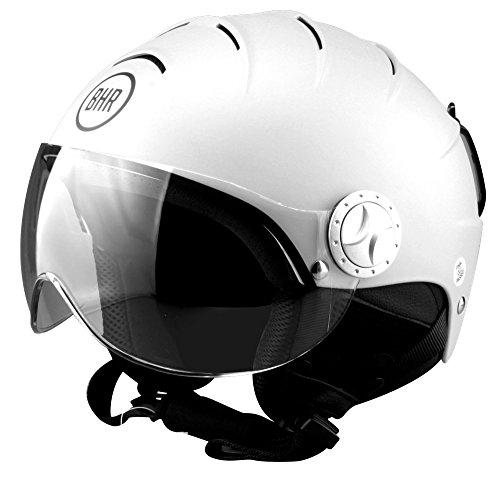 BHR 84086. Helm Demi-Jet Line Ski 820, Weiß, Größe L (59/60cm)