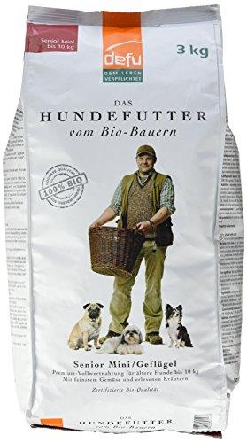 defu Bio Tierfutter für ältere Hunde kleiner Rassen 3 kg, 1er Pack (1 x 3 kg)