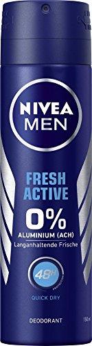 NIVEA MEN Fresh Active Deo Spray im 6er Pack (6x 150 ml), Deo ohne Aluminium mit erfrischender Formel, Deodorant mit 48h Schutz pflegt die Haut