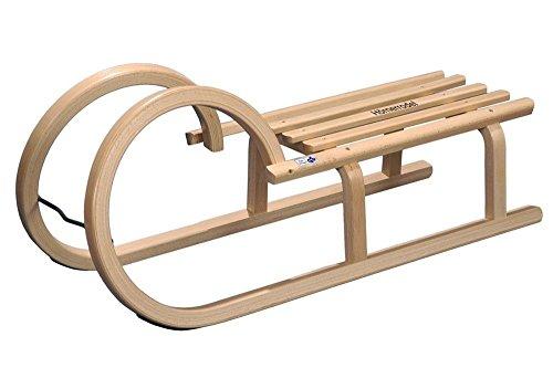 COLINT Hörnerschlitten 100 cm TÜV/GS geprüft Holzschlitten Schlitten Holz Rodel Hörner HCL 40100