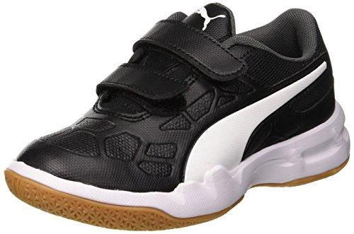 Puma Unisex-Kinder Tenaz V Jr Multisport Indoor Schuhe , Schwarz (Puma Black-Puma White-Iron Gate-Gum) , 35 EU