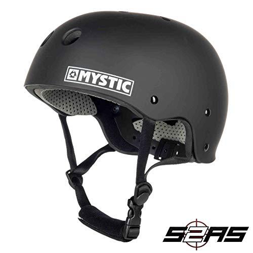Mystic Watersports - Surf Kitesurf & Windsurfing Mk8 Helm Schwarz - Unisex - Leichtgewichtler - Hochwirksamer Thermoplastik