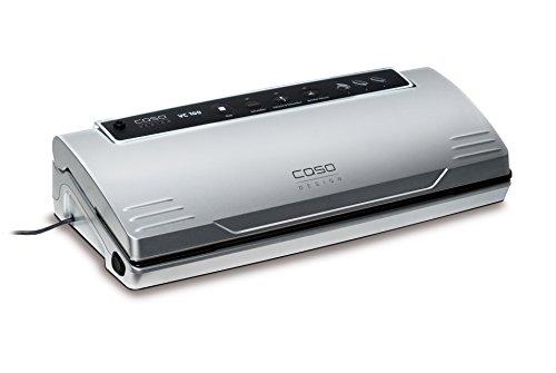 CASO VC100 Vakuumierer - Vakuumiergerät, Lebensmittel bleiben bis zu 8x länger frisch - natürliche Aufbewahrung ohne Konservierungsstoffe, doppelte 30cm lange Schweißnaht, Vakuumregulierung, inkl. 10 gratis Profi-Folienbeutel