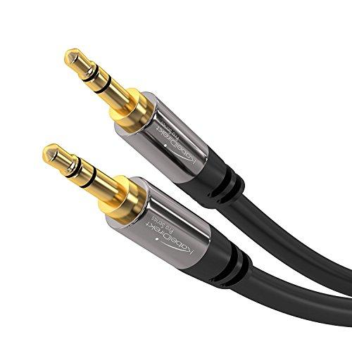 KabelDirekt - Aux Kabel, Audio &  Klinkenkabel 3.5mm - 5m - (überträgt originale Stereo Qualität & ist geeignet für iPhones, iPads, Smartphones, MP3 Player, Tablet PCs, Autos & andere Geräte)