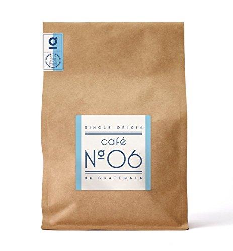 Kaffee N°06 aus Guatemala von Coffee858 – Handgerösteter Premium Single Origin Arabica – Fair & Direkt gehandelt – Säurearm & Bekömmlich – Traditionelle Trommelröstung – ganze Bohne (750g)