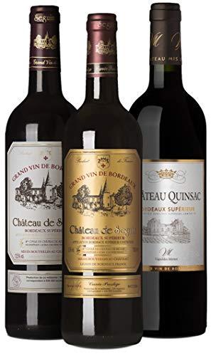 Bordeaux Entdecker-Set | 3 Flaschen Rotwein (trocken) aus Frankreich | Ideal als Geschenk-Paket oder für den persönlichen Wein-Genuss