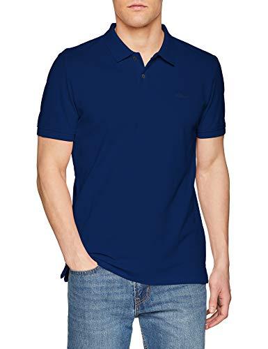 s.Oliver Herren 03.899.35.4586 Poloshirt Blau (Surf Blue 5639) X-Large