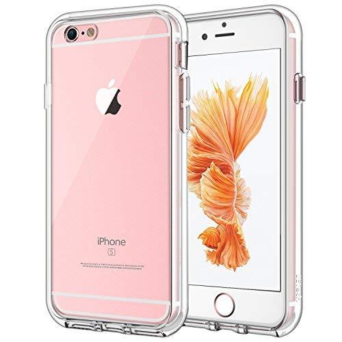 JETech Hülle für iPhone 6s und iPhone 6, Schutzhülle Anti-kratzt Transparente Rückseite, HD Klar