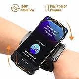 VUP Sportarmband Handytasche Sport für alle 4-6.5 Zoll Smartphones Handy Armband Running Armband für Joggen Laufen Gym Radfahren Wandern Klettern Armtasche