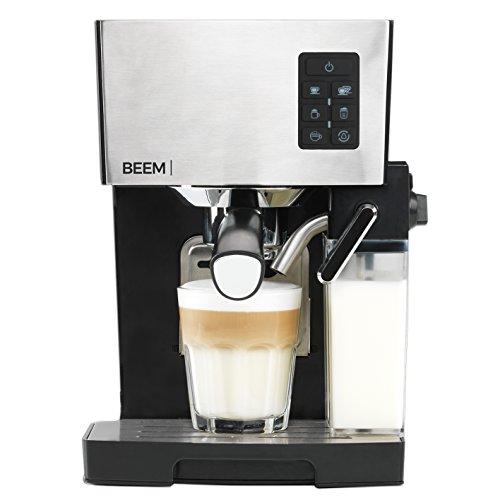 BEEM Espresso-Siebträgermaschine 1110SR - Elements of Coffee & Tea, 1450 W, 19 bar Pumpe, Milchaufschäumer, Edelstahl