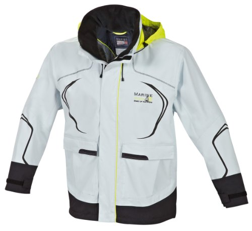 Marinepool Erwachsene Sailingwear - MenCabra Jacket, Icegrey/Black, XXL, 1001230-804/800-210
