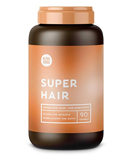SUPER HAIR   90 Kapseln   Biodynamischer Ansatz für gesunde, volle und kraftvolle Haare, Augenbrauen und Wimpern   Mit Lycopin, Keratin und Multi-Silizium