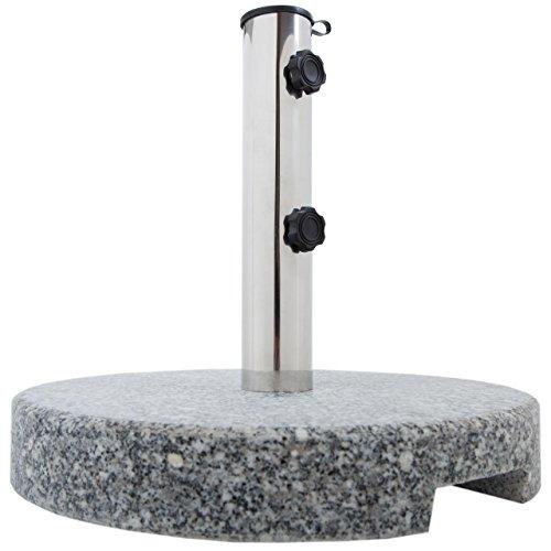 Anaterra Sonnenschirmständer Granit rund 20 kg