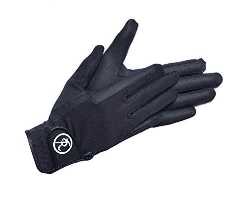 Riders Trend Unisex Softshell/dehnbare Serino Reithandschuhe, unisex, Softshell/Stretchable Serino Horse, schwarz