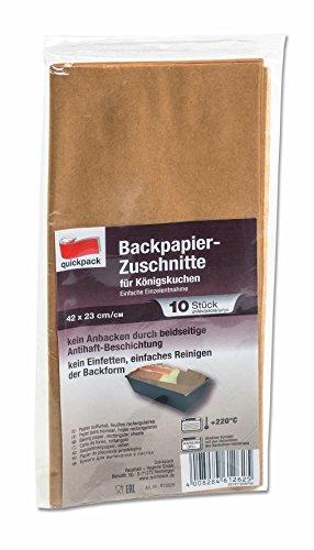 50 Backpapier Zuschnitte aus naturbraunem Papier, eckig für Königskuchen - Kastenform, beidseitige Antihaft-Beschichtung, hitzebeständig bis 220°C, Sparpack