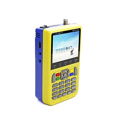 Docooler FREESAT V8 TV Signal Finder Satellitenfinder Messinstrument DVB-S / S2 HD Digital-Messinstrument 3.5 Zoll LCD Dispaly 3000mAh Batterie