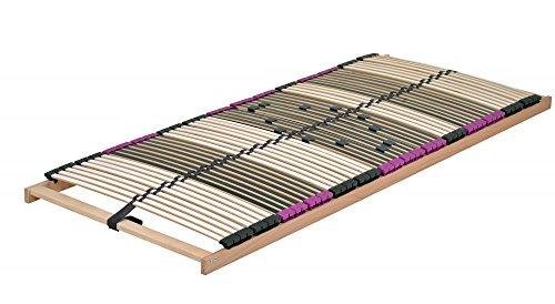 DaMi Premium NV 7 Zonen Lattenrost 70x200cm Verstellbar Buche mit 6 Fach Härteverstellung Wohn- und Schlafsysteme I Bettenrost Matratzenrost Federholzrahmen Holzlattenrost Lattenrahmen (70 x 200 cm)