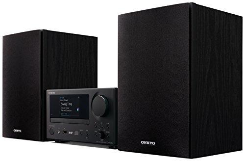 Onkyo Europe Electronics CS-N575D-BB Multiroom CD-Hi-Fi-System mit integrierter Chromecast-Technologie, Dual-WiFi, LAN, Spotify Connect schwarz