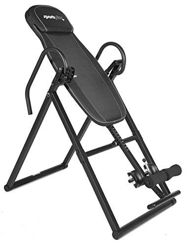 SportPlus Inversionsbank, Schwerkrafttrainer klappbar, Inversionstisch für zuhause, Rückentrainer mit 4 verschiedenen Inversionswinkel & freie Inversion, Nutzer bis 199cm & 135kg, Sicherheit geprüft