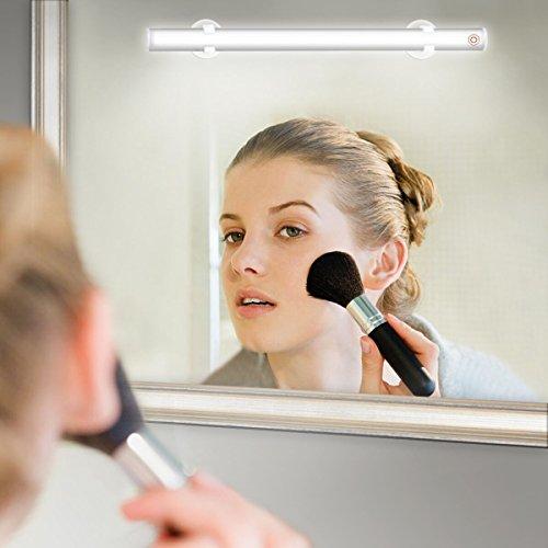 Elfeland LED Spiegelleuchte Make-up Licht Spiegellampe Schminklicht SchminkleuchteTageslichtlampe LED-Lichtleiste Schrankleuchte (USB Dimmbar 6500k 6W Weiß) für Badezimmer Schrank Küche