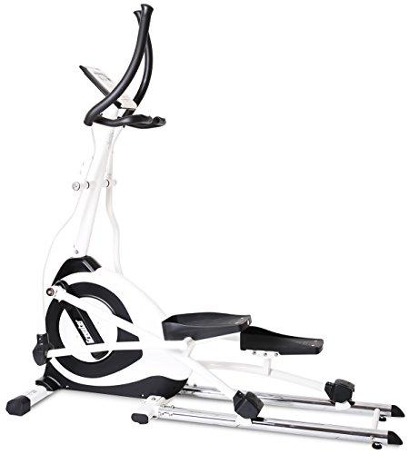 SportPlus Crosstrainer Ergometer • Ellipsentrainer • wattgesteuertes Training • 19kg Schwungmasse • 24 motorgesteuerte Widerstandsstufen • APP-Steuerung & Google Street View • Sicherheit geprüft