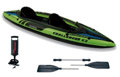 Intex Kajak K2 Challenger #68306 für 2 Personen, aufblasbar, mit Paddeln