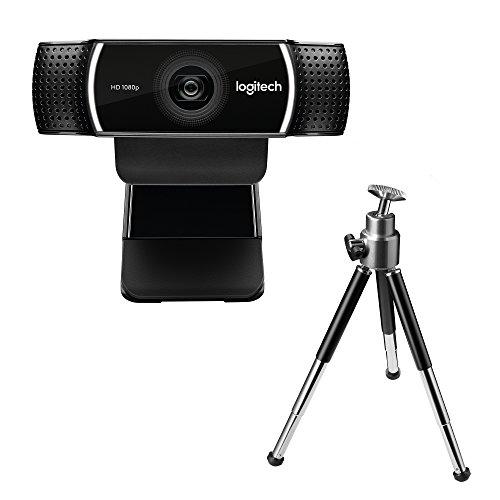 Logitech C922 Pro Stream Webcam (1080p/30FPS oder 720p/60FPS, mit Mikrofon und Stativ, Arbeitet mit Xbox One) schwarz