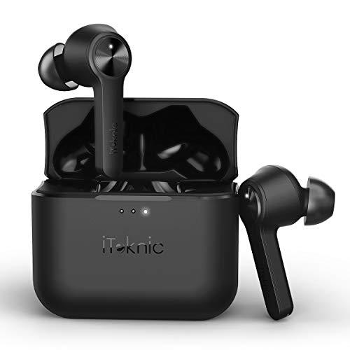 Bluetooth Kopfhörer Kabellos In-Ear Ohrhörer, iTeknic True-Wireless Active Noise Cancelling Earbuds Headset Touch-Control Bluetooth 5.0 mit Mikrofon und Ladekästchen für Android IOS Smartphone