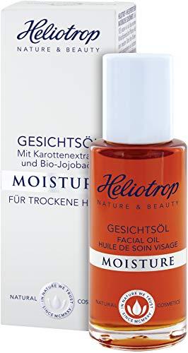 HELIOTROP Naturkosmetik MOISTURE Gesichtsöl, Harmonisiert die Fett- und Feuchtigkeitsbalance der Haut, Schenkt neue Geschmeidigkeit, Vegan, 20ml