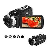 Camcorder Digitale Videokamera IR-Nachtsicht Camcorder Full HD 1080P 30FPS 3'LCD-Touchscreen Vlog Kamera mit Fernbedienung