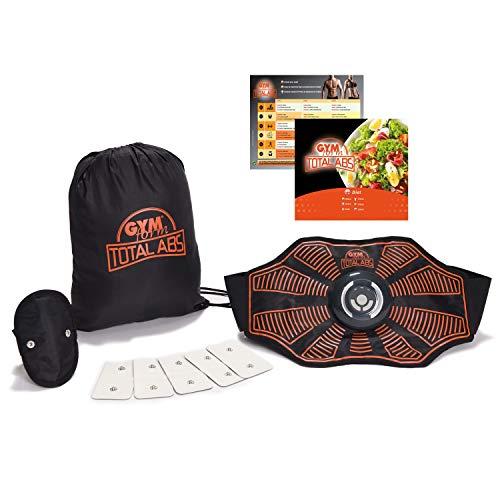Genius Gymform Total Abs Bauchweggürtel | EMS-Trainer | Fitnessgürtel | Schwitzgürtel | Gürtel für Massage, Fettverbrennung, Muskelaufbau, Abnehmen, Fitness