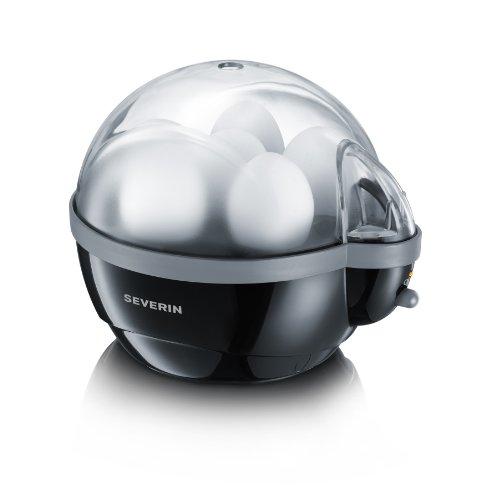 Severin EK 3056 Eierkocher (400 Watt, 1-6 Eier) schwarz/grau