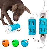 Edupet 06020AD Hundespielzeug, Dog'n'Roll, Intelligenzspielzeug für Hunde, Leckerli-Spender, 17,5 cm, blau-türkis