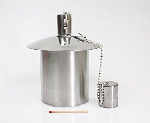 Öllampe Einsatz - Ölbehälter Gartenfackel - aus Edelstahl - ca. 170 ccm Inhalt - - Ein Qualitätsprodukt von Hannas Laden