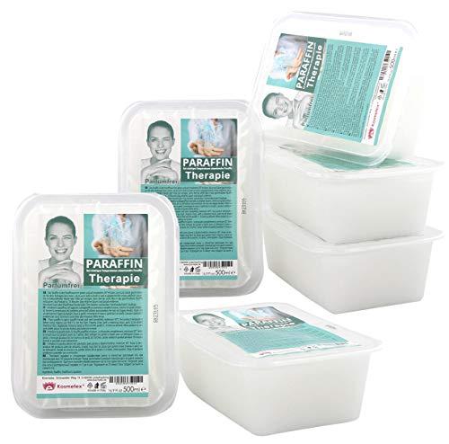 Paraffinbad Therapie Kosmetex für Gelenk Paraffin-Bäder, Parfümfrei, Paraffin-Wachs mit niedrigeren Schmelzpunkt, 6x 500ml