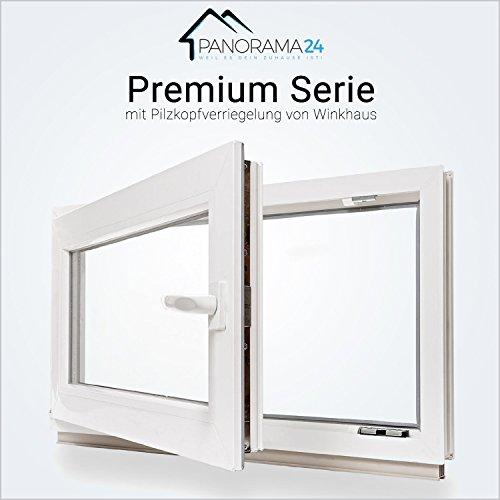 Kellerfenster - Kunststoff - Fenster - weiß - 2-fach-Verglasung - BxH: 100x80 cm - DIN links - 60mm Profil - verschiedene Maße - LAGERWARE
