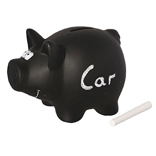 schwarzen Sparschwein aus Keramik zum Beschriften, Tafellack, Kreidetafel von Out of the blue
