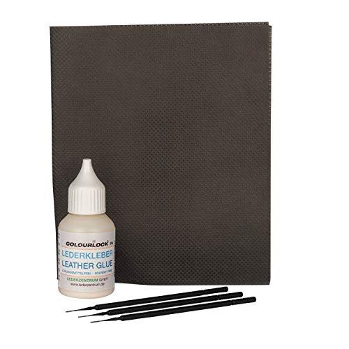 COLOURLOCK Lederkleber Riss-Reparatur-Set lösungsmittelfrei (Kleber 20 g, Spannstoff, 3 Minipinsel)