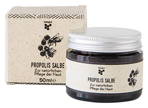 beegut Propolis Salbe, zertifizierte Naturkosmetik aus dem Allgäu, hochwertiges Balsam mit 5% Propolis zur natürlichen Pflege & Schutz der Haut